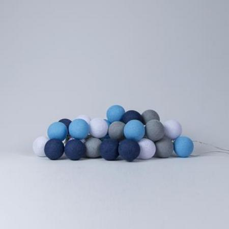 Lichterkette Cottonballs, sailor blue
