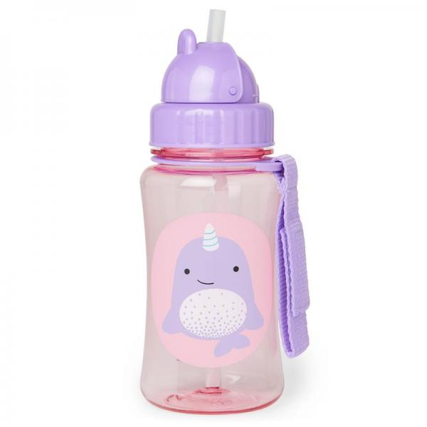 Zoo Straw Bottle Narwal
